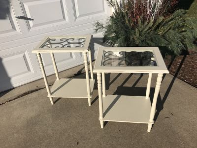 Small Cream Table Pair