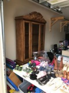 China cabinet (yard sale moved to garage)