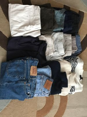 FREE Clothing Lot for mostly men - Free until July 5th then donated if still around.
