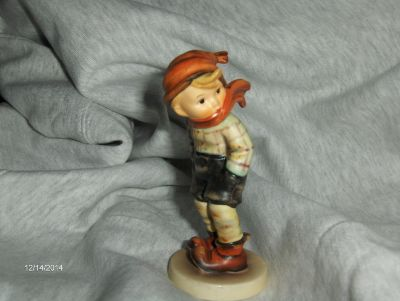Vintage Very Rare Hummel Porcelain Figurine MARCH WINDS Goebel Blonde Hair Boy Scarf Blowing