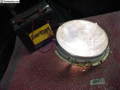 Hella headlight set with working beam