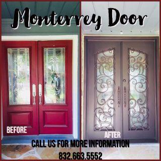 Iron Doors-Glass open independently