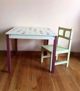 Pottery Barn Kids Table and Chair excellent condition