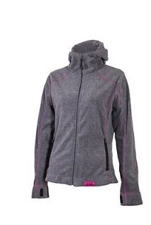 Find Divas Snowgear Hooded Fleece Womens Zip-Up Jacket Grey/Pink LG motorcycle in Holland, Michigan, United States, for US $38.99