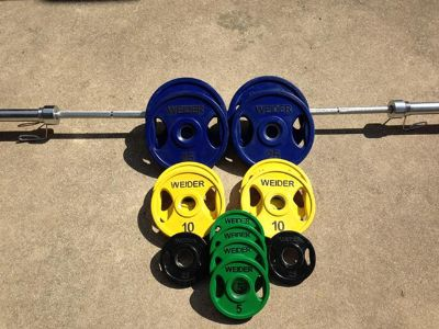 Gym Equipment Weider Barbell Weight Set