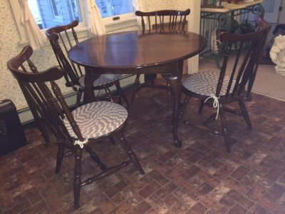 Cherry kitchen table with four chairs