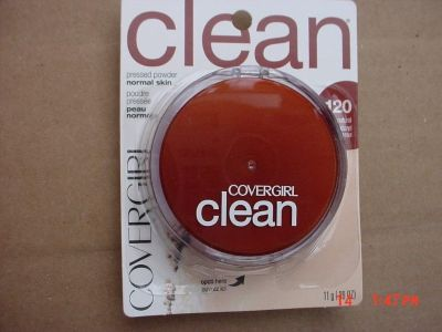 CoverGirl Clean Pressed Powder Compact, Creamy Natural [120], 0.39 oz