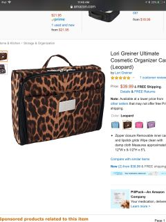 EUC QVC Lori Greiner Cosmetic Organizer. This has 5 zipper compartments, 14 compartments in all