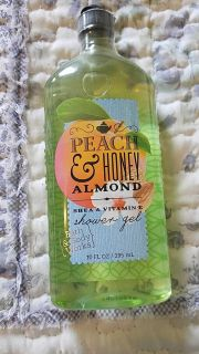 Bath and body Works Peach and honey almond Shea and vitamin E shower gel