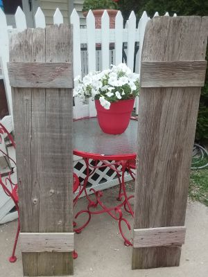 Pair of Antique Barn Shutters