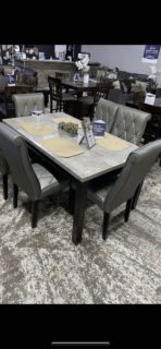 Light Grey Real Marble Table