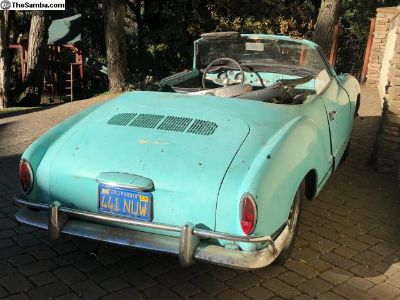 1963 Ghia Convertible Pacific Blue
