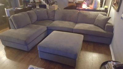 Grey sectional couch (Costco)