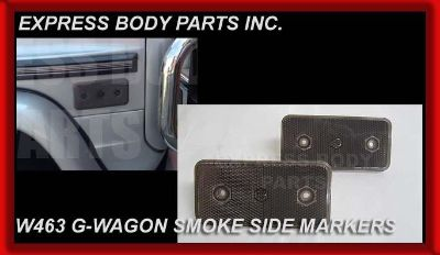 Sell SMOKE 1 PAIR MERCEDES W463 G-WAGON G500 G550 G55 SIDE MARKERS LIGHTS REFLECTOR motorcycle in North Hollywood, California, US, for US $65.50
