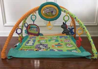 White, Green, and Blue Activity Gym