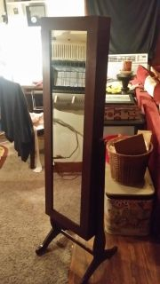 Mirror and Jewelry Armoire