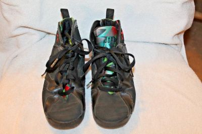 $20 Nike Jordan 7 Retro Black Barcelona Nights Shoes Size 3Y 304773-007 Youth 3