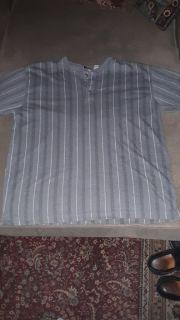 Men's size Large Gray Basic Equipment Short - Sleeved Shirt