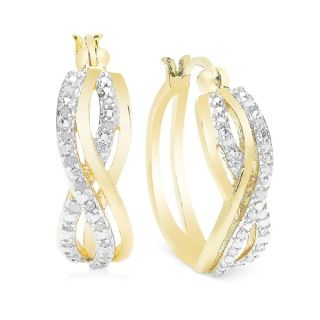 Diamond Hoop Earrings in 18K Tone