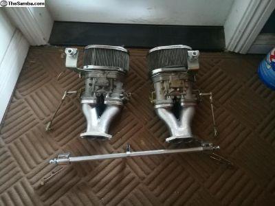 VW Complete Dual 44 IDF Weber Carburetor Set