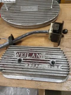 Weiland valve covers used old skool aluminum
