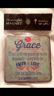 1 Timothy 1:14 Square Magnet