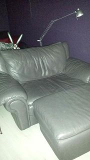 $150, Leather Chair and Ottoman