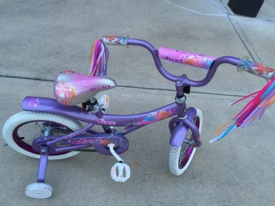 Little Girl's Bike or Bicycle with training wheels