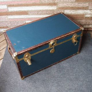 Vintage Steamer Trunk Luggage Coffee Table Storage
