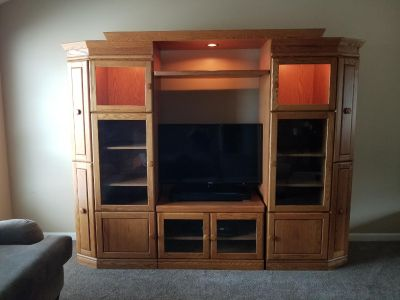 Solid entertainment center