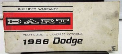 Purchase 1966 Dodge Dart 170 270 GT Owners Manual ORIGINAL motorcycle in Holts Summit, Missouri, United States, for US $19.66