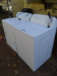 Admiral Washer and Frigidaire Electric Dryer.Please read description and Information.. Pickup in Colbert
