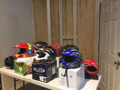 400 New Helmets In boxes S, M,L sizes