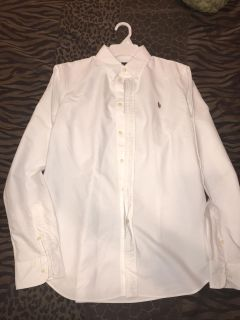 Juniors/ Custom fit Polo brand white button-up