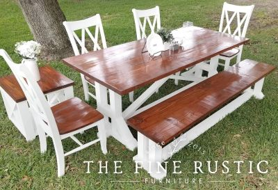 7ft dining set with two side tables