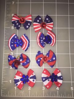 USA pet bows on grooming bands