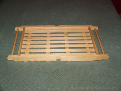 Wood Serving Tray - Converts to Standing Tray