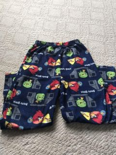 Angry bird flannel PJ pants size large. Like new. $3