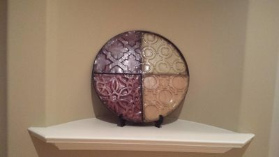 Large decorative plate with easel