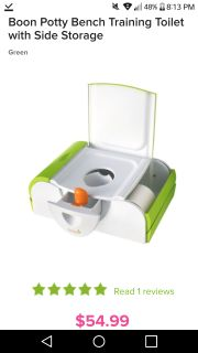 Boon 2 in 1 potty and Step stool