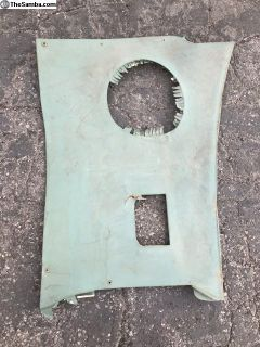 1964 Original Turquise passenger side kick panel