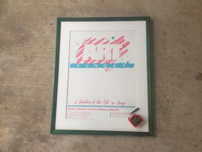 Large Wood with Glass Frame