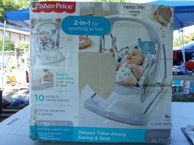 Fisher price deluxe take-along swing& seat