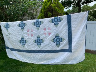 Huge antique quilt