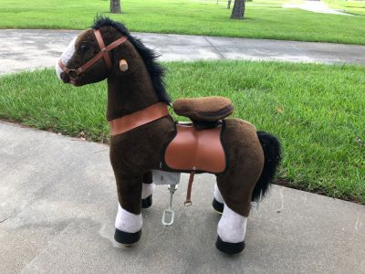 Pony Cycle - Chocolate brown with white hoof - Needs Cleaning - Retails At Walmart for $218.98 - READ BELOW