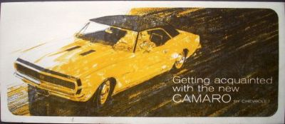 Find 1967 Chevrolet New Camaro Folder Dealer Brochure Sales Facts Original SS 67 Rare motorcycle in Holts Summit, Missouri, United States