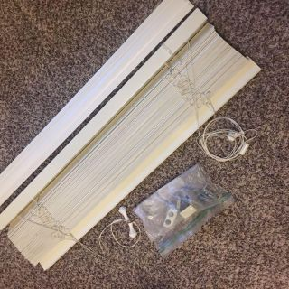 White Real Wood 2 Blinds