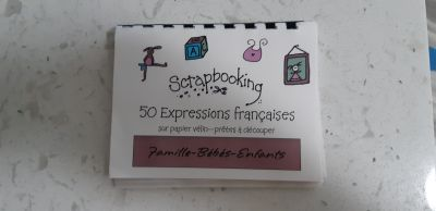 FREE with purchase of 5.00 from my stuff. Acid free scrapbooking sayings in French brand new
