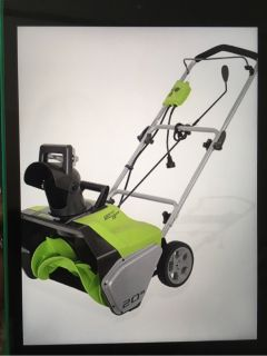 Greenworks 20-Inch 13 Amp Corded Snow Thrower