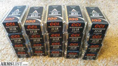 For Sale/Trade: CCI suppressor .22 lr ammo